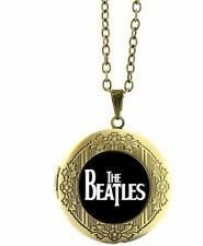"""The BEATLES Classic Logo Glass Dome Locket PENDANT on 22 """" Chain"""