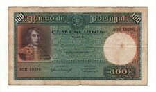 PORTUGAL 100 ESCUDOS 1941 PICK 150 LOOK SCANS