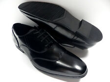 Chaussures ZY noir HOMME taille 42 garcon costume mariage habillé NEUF #2221