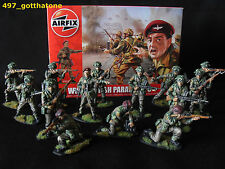 1/32 AIRFIX BRIT PARAS WW2. PRO- PAINTED X 14 BOXED NEW.