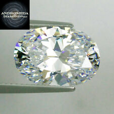5 Ct. Oval Brilliant Synthetic Stone by Andromeda Outshines Diamond & Moissanite