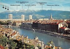 BT9622 Grenoble quais de l isere telepherique cable train         France