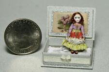 Miniature doll tiny cloth and wood dolls house toy doll  Handmade OOAK