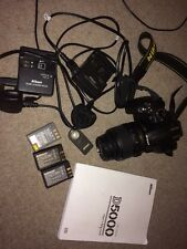 Nikon D d5000 12.3mp Fotocamera Reflex Digitale-Nero 18-55 VR Kit AF-S DX 3 xBattery