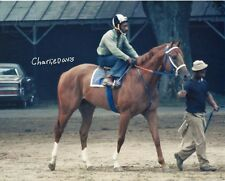 SECRETARIAT, EDDIE SWEAT & CHARLIE DAVIS - ORIGINAL 1973 HAND SIGNED PHOTO!