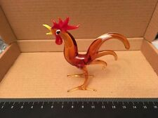 Vintage Murano Art Glass Animal Figurine Cockerel Rooster Chicken