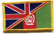 NATO ISAF ANDSF TAAC RESOLUTE SUPPORT RS VELCRO INSIGNIA: UK/AFGHANISTAN FLAG