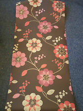 NEW Feature Wall WALLPAPER FLOWER DESIGN ANGELINA CHOCOLATE & BERRY 10611