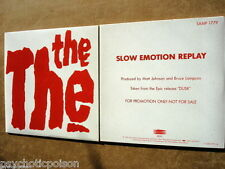 THE THE - Slow Emotion Replay  CD ADVANCE  PROMO   Epic SAMP 1779
