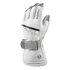 Manbi Motion White Silver Ladies Female Ski Gloves Large Snow Snowboarding New