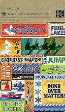K & Company Boy Scouts Water & Snow Sports Embossed Stickers Ski Sail Surf NEW