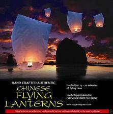 10 Lanternes de Ciel chinois khoom Fay vendeur britannique, (blanc)