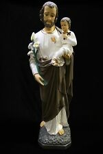 "32"" Saint St Joseph with Baby Jesus Catholic Statue Sculpture Made in Italy"