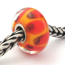 Authentic Trollbeads Ooak Glass Unique Bead Charm (M Small), 13mm Diam. New