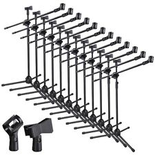 12pcs Microphone 360-degree Rotating Stand 2 Mic Mount Boom Folding Type Tr