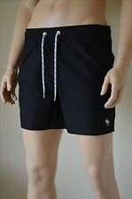 Abercrombie & Fitch Classic Board Swim Tugger Shorts Black Drawstring M