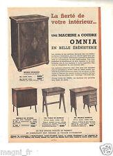 Publicité 1964 - Machine à coudre OMNIA et meuble - Manufrance