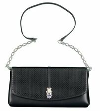Roberto Cavalli Class Daphne Womens Calf Leather Clutch & Handbag Black RRP £180