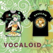 Anime Vocaloid GUMI Megpoid T-shirt Tee Tops Summer Multicolor Short Sleeve Cute