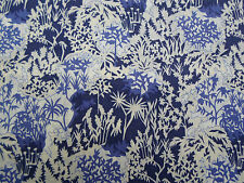 Liberty of London Tana Lawn Fabric 'Paper Garden A' 2.25 METRES x 136cm Blue