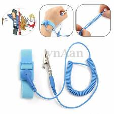 Anti-static Flexible Coiling Strap Grounding Discharge Bracelet Wrist Strap Band