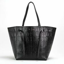 $2250 NEW authentic CELINE CABAS PHANTOM Black Croc Crocodile Tote Handbag Bag