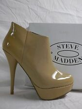 Steve Madden Size 9.5 M Chelseey Blush Patent Leather Booties Shoes New Womens