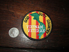 Vietnam Veteran Patch God Duty Country