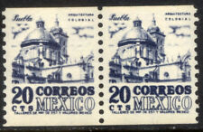 MEXICO 1003(2) 20c, 1950 DEFINITIVE ISSUE, COIL PAIR, MNH