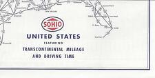 1954 SOHIO-United States featuring Transcontinental Mileage & Driving Time