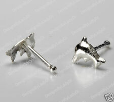 Tiny Silver Dolphin Nose Stud Studs Rings Body Jewelry