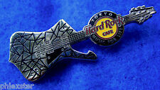 TOKYO KISS PAUL STANLEY SILVER CRACKED MIRROR GUITAR MUSIC Hard Rock Cafe PIN