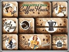 DECO : SET DE 9 MAGNETS : CAFE (COFFEE HOUSE)