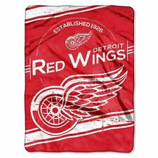NHL Detroit Red Wings Twin Size Plush Raschel Blanket 60x80 inches