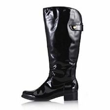 Clarks Kildale Drama Patent Leather Knee High Boots, 4/37, Black, NEW