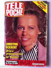 b)Télé poche 19/06/1984; Cristine Ockent/ Spécial Tour de France/ M. Jackson