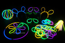 "100- 8"" Assorted Glow Stick Bracelets Party Pack"