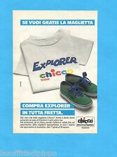 TOP985-PUBBLICITA'/ADVERTISING-1985- CHICCO - EXPLORER SHOES
