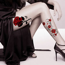 USA -NEW Waterproof Sexy Tattoo Rose Temporary Body Arm, Legs Stickers Removable