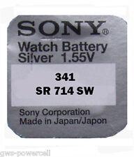 4 x Sony 341 1,55V  SR714SW SR714 SR 714 SW  341 BATTERIE Blister