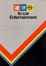 Vauxhall Opel Accessory In Car Entertainment 1983 UK Brochure Radio Cassette