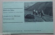 brochure Rhätische Bahn Chemin de fer rhétique 1965 SUISSE GRAUBÜNDEN GRISONS