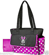 Disney Minnie Mouse Diaper Bag & Changing Pad - Polka Dots