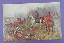 In The Hunting Field - Tuck Oilette , Old Unused Textured Postcard