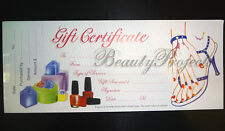 50 Sheets Professional Nail Beauty Salon White Gift Certificates 1 Booklet NEW!!