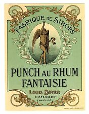 LABEL FRENCH PUNCH AU RHUM FANTAISIE LOUIS BOYER
