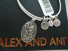 Alex and Ani Because I Love You GRANDDAUGHTER II Russian Silver Bangle New W Box