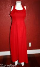 UNBRANDED FULL LENGTH  HALTER DRESS  BACKLESS RED