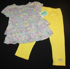 Child of Mine Carter's Girl 2 Piece Butterfly Ruffle Play Set Outfit 24M NWT
