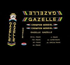 Gazelle Champion Mondial Bicycle Decals, Transfers, Stickers n.24 Gold